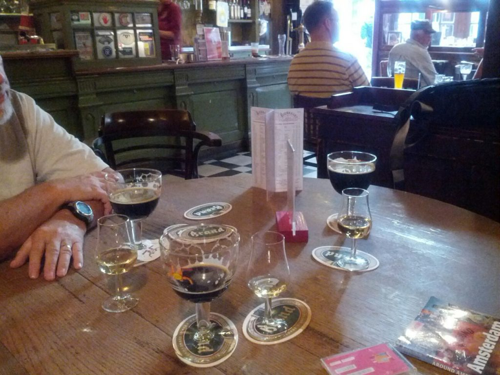 Finishing Up Some Beers At In De Wildeman