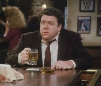 George Wendt on Cheers